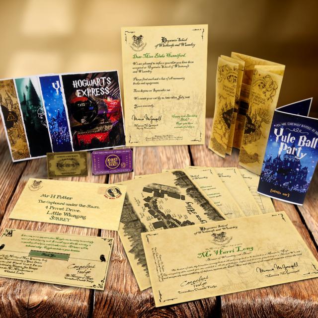 Personalizado Harry Potter Maravilloso Juego Marauders Mapa Hogwarts Conjuros