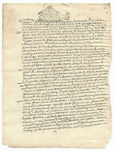1697-LOUIS-XIV-royal-notary-signature-manuscript-nice-caps-regular-calligraphy