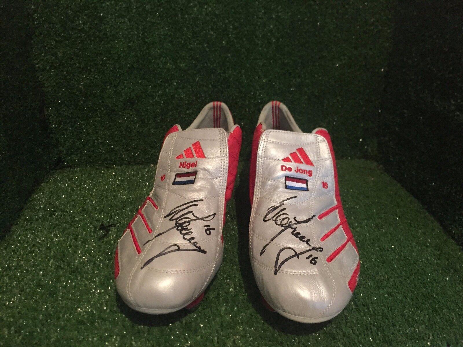 Match Worn issued Signed Adidas F50 Nigel de Jong AC Milan City