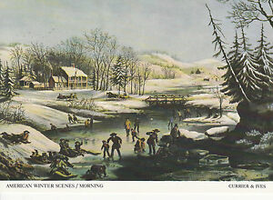 AMERICAN WINTER SCENESMORNING a Currier amp Ives print for ChristmasNew Year - Salisbury, Wiltshire, United Kingdom - AMERICAN WINTER SCENESMORNING a Currier amp Ives print for ChristmasNew Year - Salisbury, Wiltshire, United Kingdom