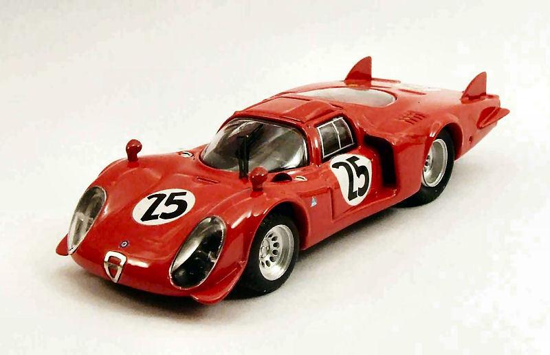 Alfa romeo  33.2  25 24h crash daytona 1969 Dibos calabattisti 1 43 model  100% authentique