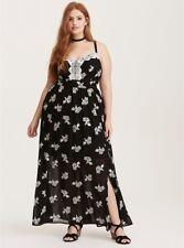 9b3b7dcd89 item 2 NWT TORRID (5-5X 28) Black White Embroidered Chiffon Maxi Dress Slit  stretchy -NWT TORRID (5-5X 28) Black White Embroidered Chiffon Maxi Dress  Slit ...