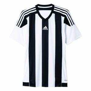 Adidas-Football-repartis-15-Maillot-Homme-Manches-Courtes-Shirt-Blanc-Noir