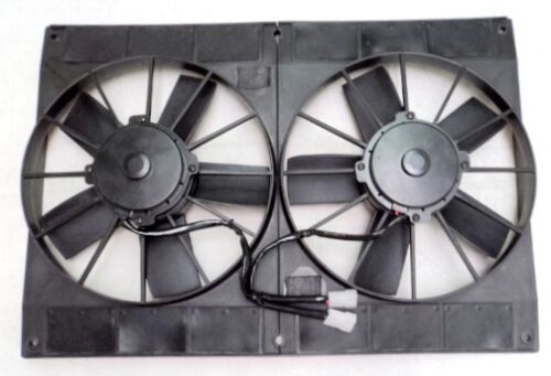 """11/"""" Dual Extreme Electric High Performance Radiator Cooling Fan Twin HD Puller"""