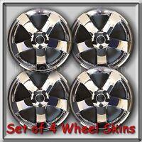 4 Chrome Wheel Skins Hubcaps 2009-2014 18 Dodge Challenger Chrome Wheel Covers