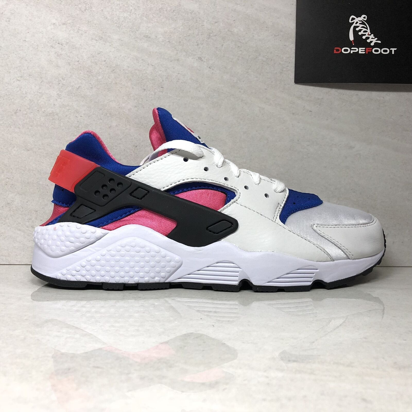 Nike Air Huarache Run 91 QS AH8049 100 Men's Size 9.5 Size 11.5 White Game Royal