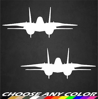 2 - US Navy F-14 Tomcat Aircraft Stickers Front View Military Graphics  Decals | eBay