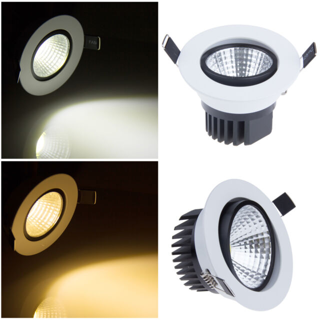 COB 6W 9W 12W 15W Led Down Spot Light Bulb Recessed Ceiling Panel Flat Spotlight