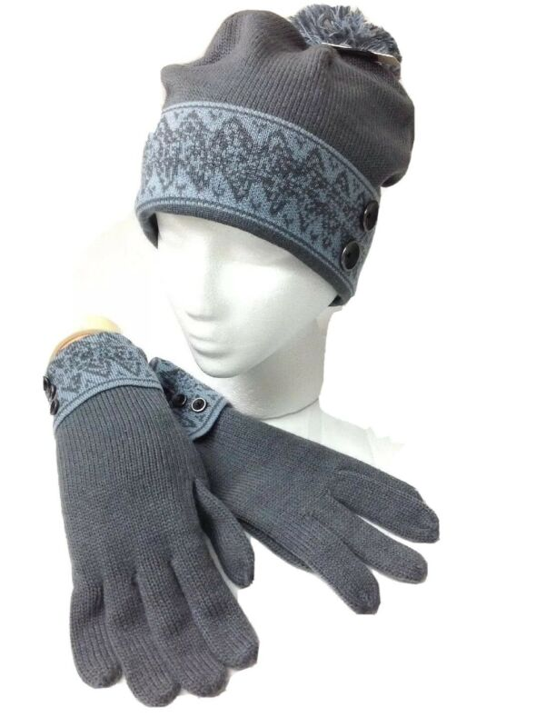 Simply Noelle Women's Swiss Alps Hat/glove Set-100% Knit-one Size Fits Most Available In Various Designs And Specifications For Your Selection