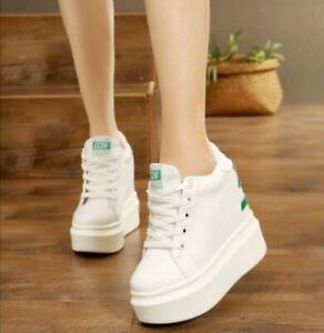 Womens-Platform-Hidden-Wedge-High-Heels-Lace-Up-Creepers-Shoes-Sneakers-Casual