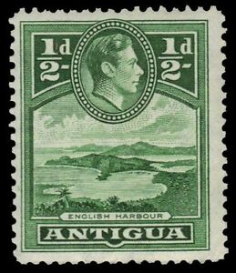 """pf79298 Antigua 84i - King George Vi """"english Harbour"""" 1942 Print sg98i Bracing Up The Whole System And Strengthening It"""