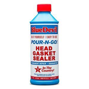Blue Devil Pour N Go Head Gasket Sealer 16oz Seal Heater