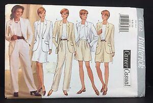 Butterick Sewing Pattern 5911 Noviello Bloom Career Skirt Suit Blazer Jacket UC