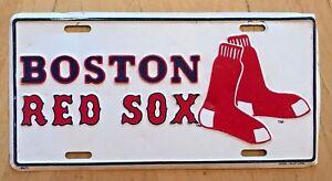 VINTAGE MASS MLB BASEBALL BOSTON RED SOX FRONT LICENSE PLATE ... 147707b7dcc5