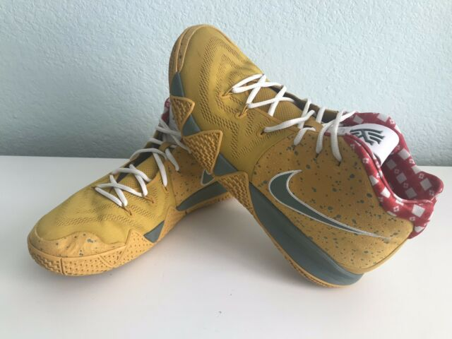 "sports shoes 283f0 2a075 Nike Kyrie 4 TV PE AR4599-700 ""Yellow Lobster"" Super Exclusive Shoe Rare"
