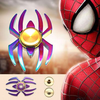 SpiderMan Fidget Spinner Finger Hand Focus Aluminum EDC Bearing Anti Stress Toys
