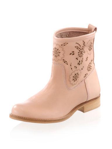 Zapatos botas verano botín cuero de Alba Moda Lasercut (4)
