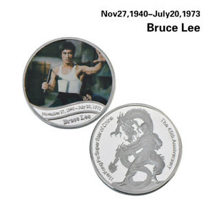 WR-Collectibles-Kung-Fu-Bruce-Lee-Silver-Coin-Medal-The-Way-Of-The-Dragon-Gifts
