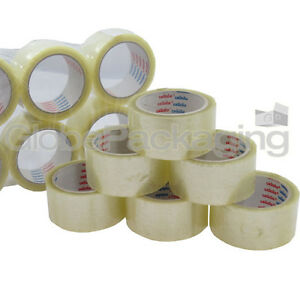 Large Clear Tape Roll 48mm x 66m Low Noise Packing Mailing Dispatch