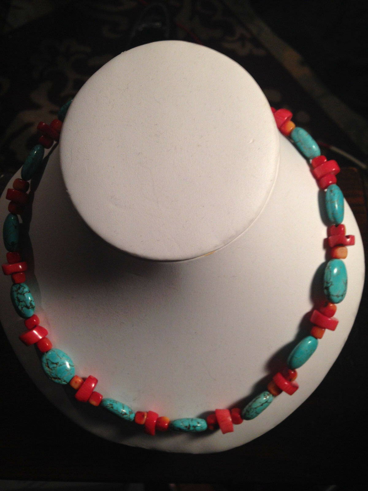 Turquoise Necklace--19  handmade in Tennessee