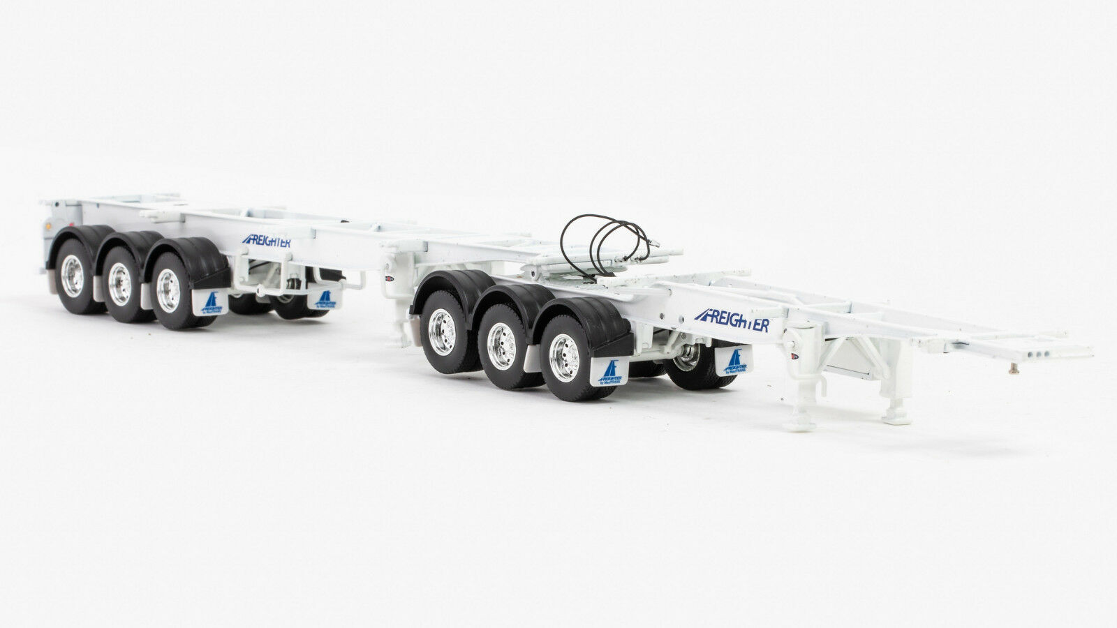 Freighter -Skel B-Double Trailer Set -White 1 50 Scale By Drake  ZT09153