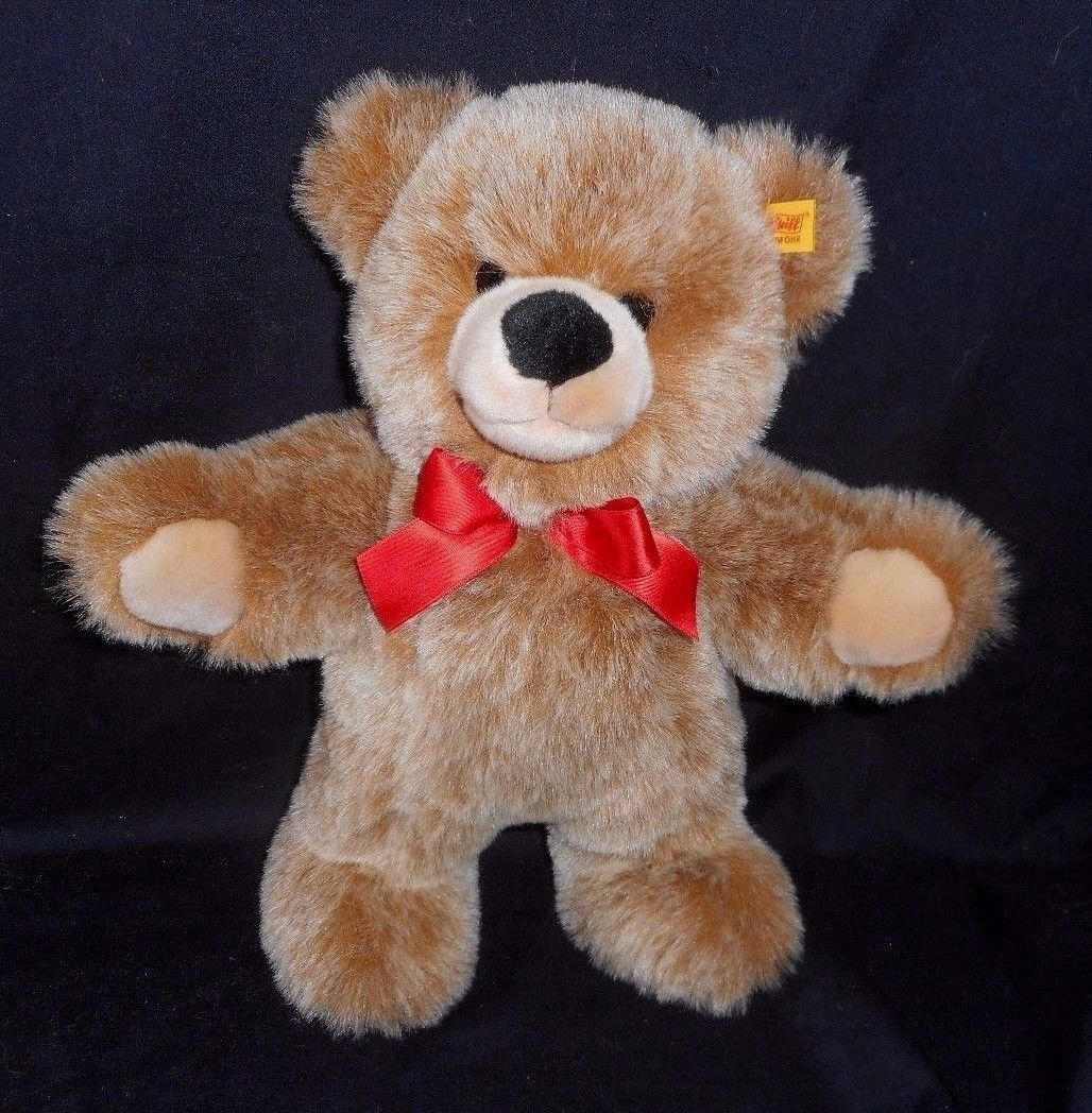 12  STEIFF BOBBY TAN   Marronee TEDDY BEAR STUFFED ANIMAL PLUSH TOY oro   021930