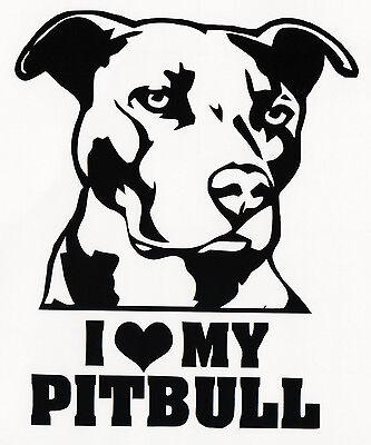 I Love My PIT BULL in Dog Bone Bumper Sticker Car Decal Vinyl Sticker