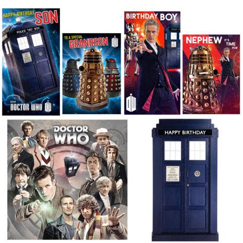 Doctor Who anniversaire cartes de relation /& General Dr WHO GAMME Gratuit 1ST Classe Envoi