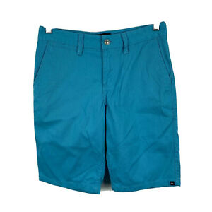 Quiksilver-Mens-Shorts-Size-29-Blue-Zip-Closure-Bermuda-With-Pockets