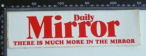 VINTAGE DAILY MIRROR NEWSPAPER ADVERTISING VINYL PROMO BUMPER STICKER