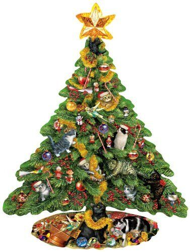Sunsout Puzzles 1000 Piece Christmas Tree Shaped Jigsaw Puzzles Christmas Gift