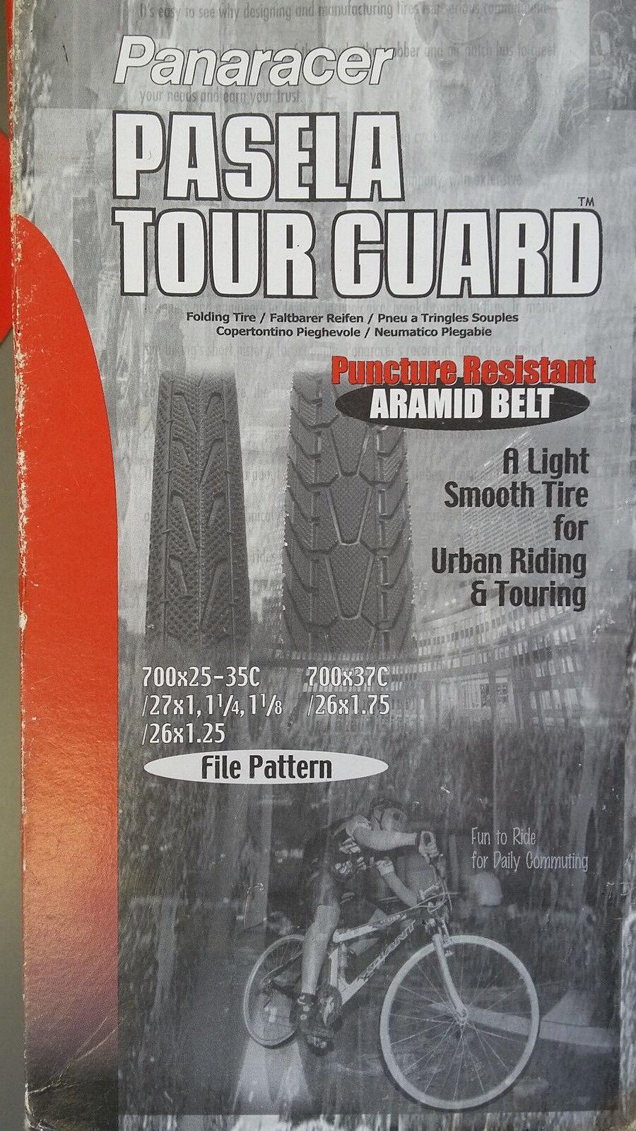 PANARECER PASELA TOUR GUARD. PUNCTURE RESISTANT ARAMID BELT. A LIGHT SMOOTH TIRE