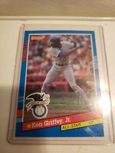"""1991 Donruss KEN GRIFFEY Jr #49 - ERROR no """"."""" DOT after 1990 LEAF, INC - rare"""