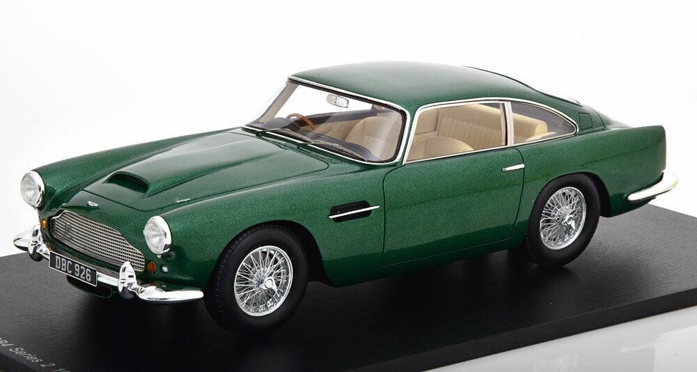 Spark 1960 Aston Martin DB4 Série 2 Vert Métallique 1 18 Échelle Neuf Libération