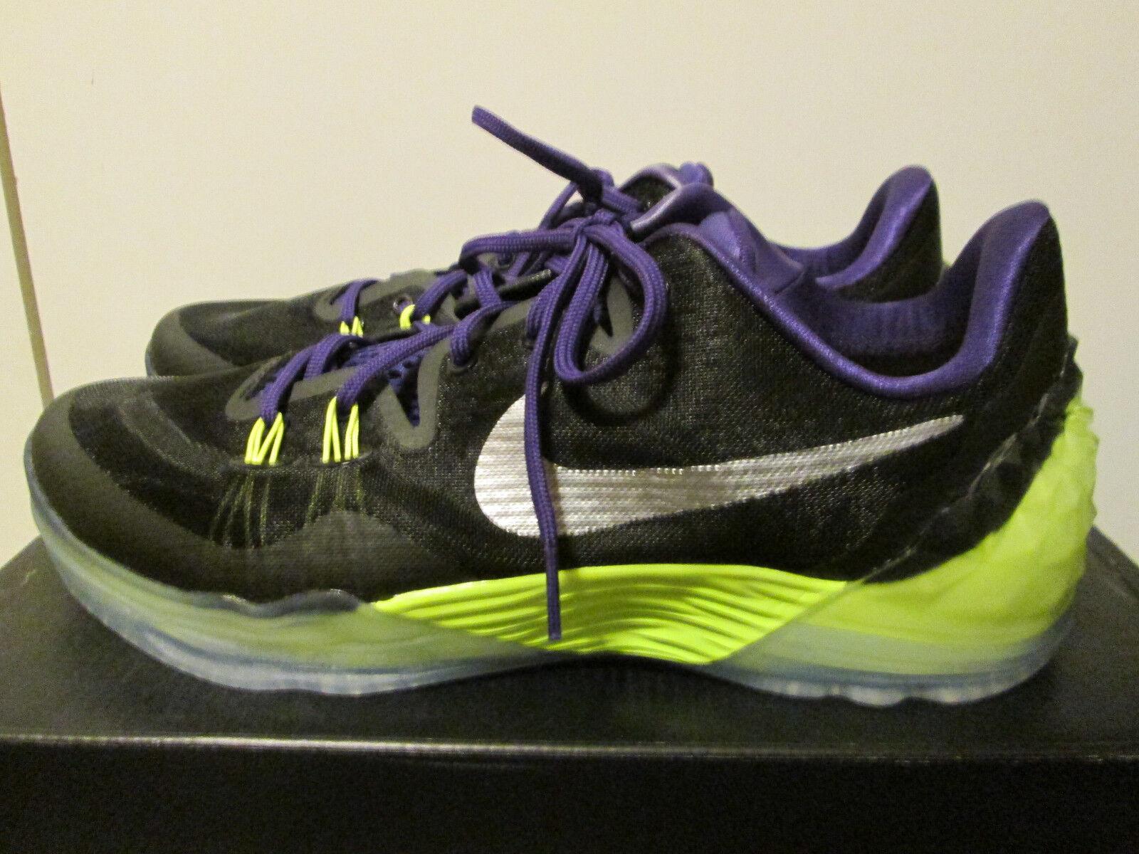 Nike Kobe Venomenon 5 Black Purple Volt Basketball Shoes Sz 10.5 749884-005 NEW