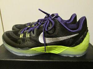 innovative design fd878 b17c1 Image is loading Nike-Kobe-Venomenon-5-Black-Purple-Volt-Basketball-
