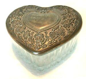 3.5 Glass Heart Trinket Box