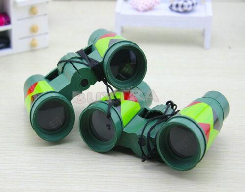 Camouflage Green Plastic 10x 30mm Binocular Toy Fun Boy for Child Kids GiftPTH