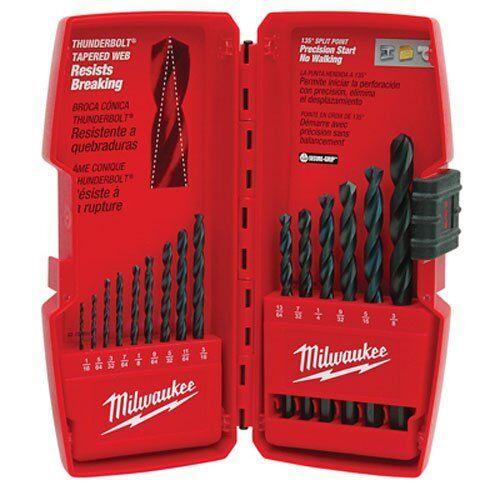 Milwaukee 48-89-2803 15-Piece Thunderbolt Black Oxide Drill Bit Set