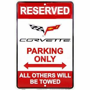 Chevy-Corvette-Parking-Sign-8-x-12-inches