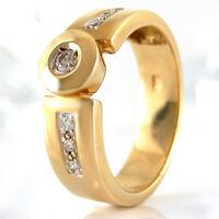 Ring in 585/- Gelbgold mit 7 Diamanten ca 0,12 ct Wesselton si Gr. 54