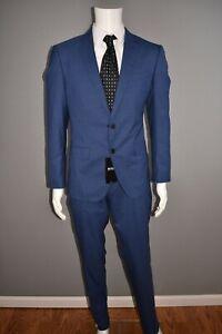 HUGO-BOSS-NEW-795-Huge6-Genius5-Slim-Fit-Wool-Suit-Men-039-s-40S