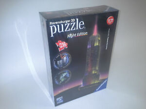 Ravensburger 125661 Puzzle 3D Empire State Building Night Edition 216 Teile Puzzles & Geduldspiele