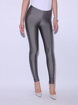 Neon Candy shiny Bright Fluorescent Glow Stretch  Leggings Pants S,M,L,XL