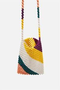 Rubi-Shoes-Womens-Beaded-Cross-Body-Bag-Bags-amp-Belts-In-Multicoloured
