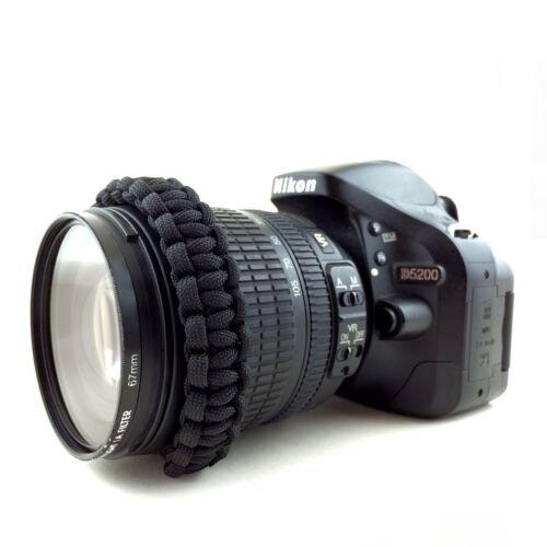 Hecho a mano de Cuerda de paracaídas Cámara DSLR Correa de muñeca y compacta-UK-Canon Nikon Sony Fuji