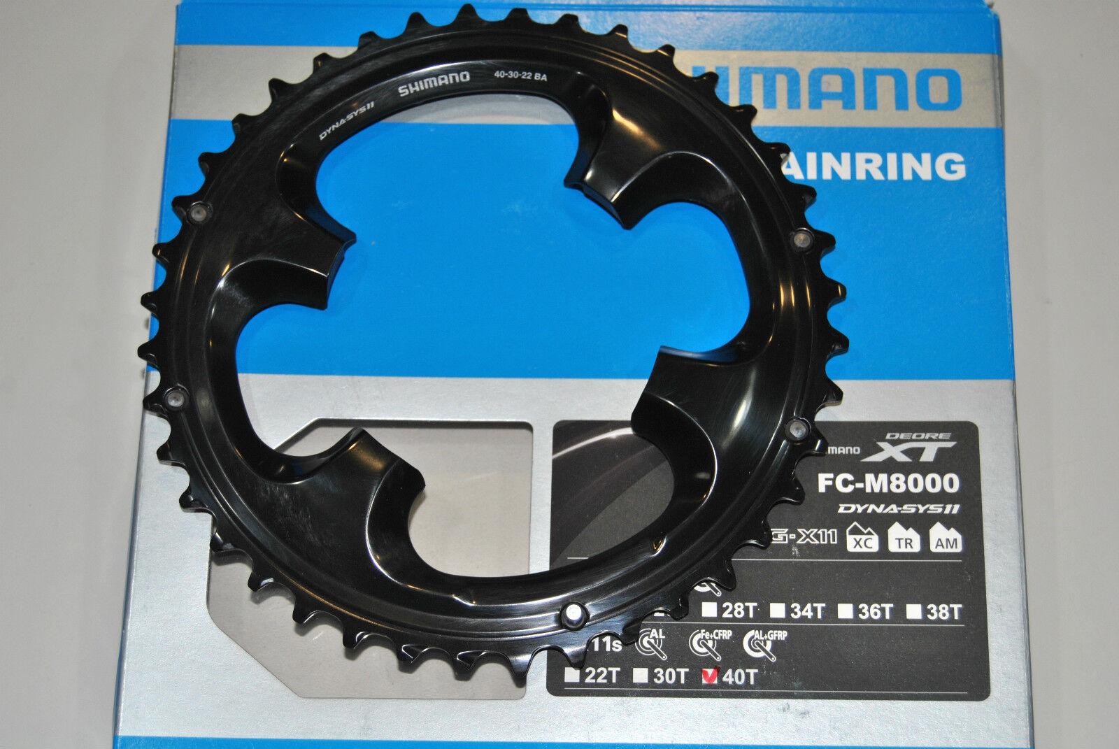 Corona SHIMANO XT 40T BA FC-M8000 (  40x30x22T ) CHAINRING SHIMANO XT 40T BB FC-M  tienda de venta en línea