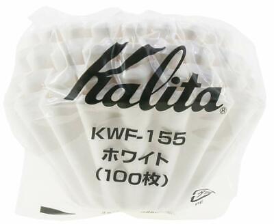Kalita Wave Drip Coffee Filter WHITE KWF-185 100 Sheets 2-4 Cups s7010 free ship