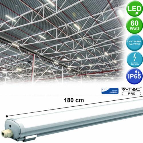 SMD LED Decken Leuchte Garagen Beleuchtung 60W Wannen Leuchte Tageslicht Röhre