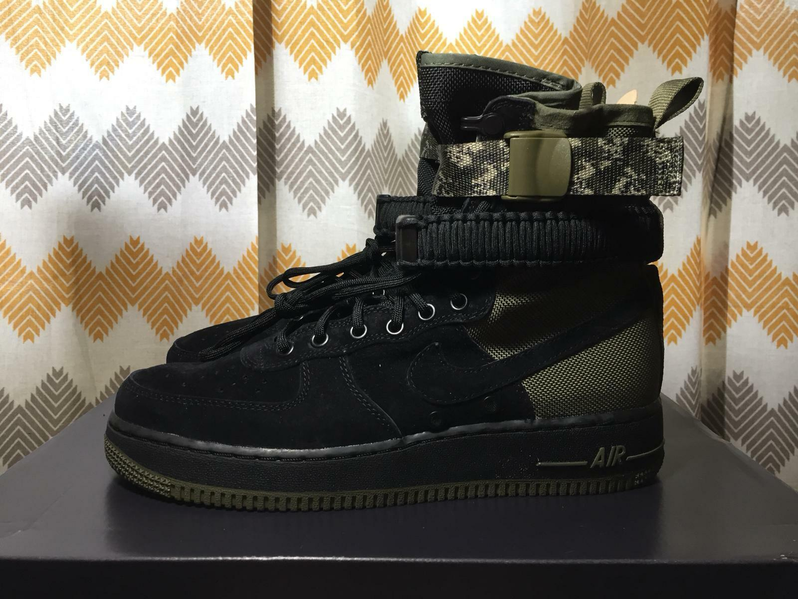 Nike SF Air Force 1 shoes Black Olive Camo Men SIZE 8
